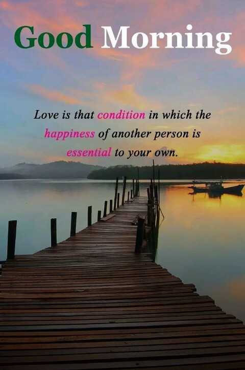 hippy sunday - Good Morning Love is that condition in which the happiness of another person is essential to your own . - ShareChat