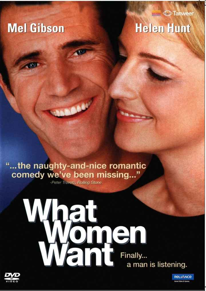 hollywood - . . . . . . Tanweer Mel Gibson Helen Hunt . . . the naughty - and - nice romantic comedy we ' ve been missing . . . - Peter Travers , Polling Stone What Women W ant Finando Finally . . . a man is listening . DVD RELIANCE VIDEO Home Video & Games - ShareChat