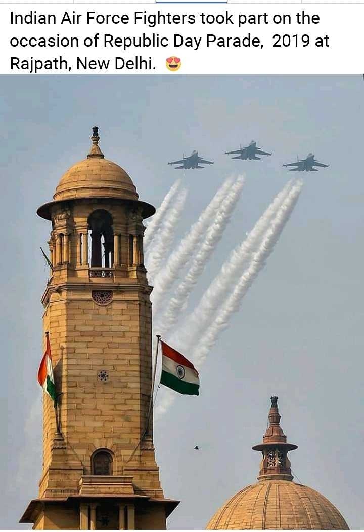 i love india - Indian Air Force Fighters took part on the occasion of Republic Day Parade , 2019 at Rajpath , New Delhi . - ShareChat