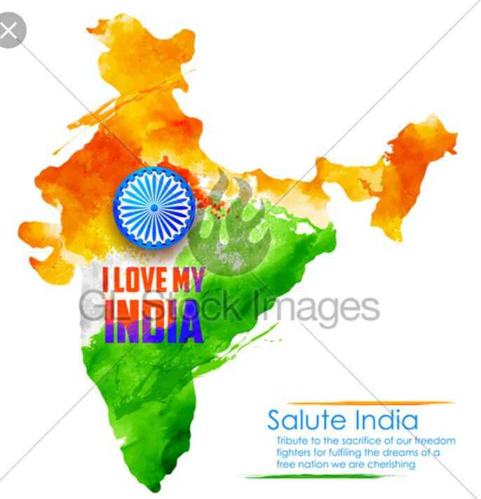 i love my india - ILOVE MY INDIOCK nages Salute India Tribute to the sacrifice of our freedom fighters for fulfiling the dreams of a free nation we are cherishing - ShareChat