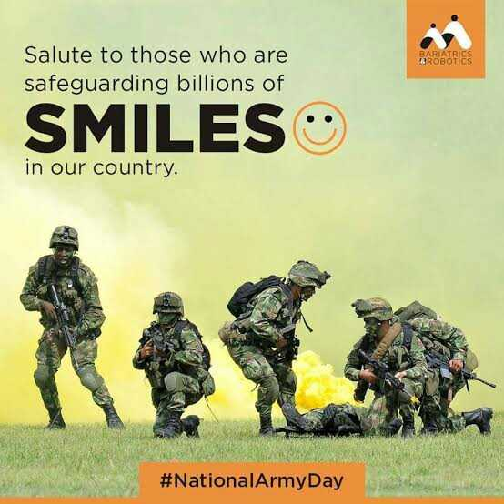 indian army - BARIATRICS BROBOTICS Salute to those who are safeguarding billions of SMILES in our country . # NationalArmyDay - ShareChat