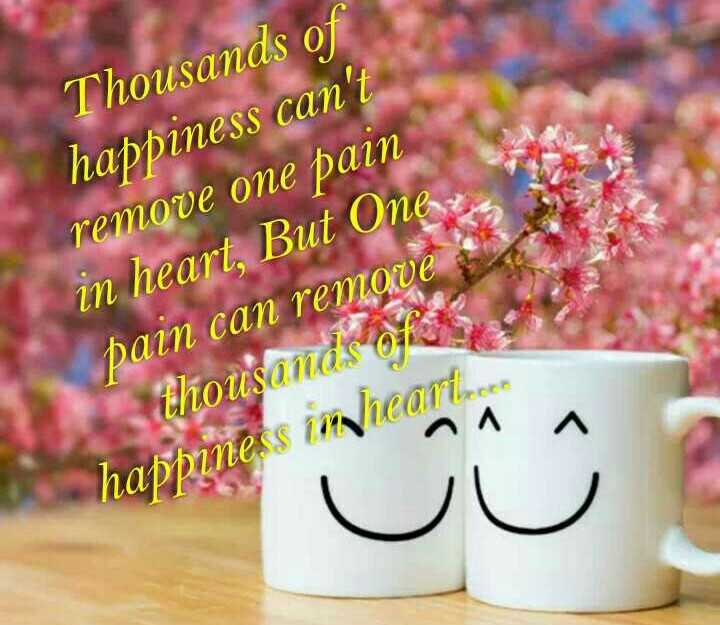 jana priya nudigalu - Thousands of happiness can ' t remove one pain in heart , But One , pain can remove thousands of happiness imheart . - ShareChat