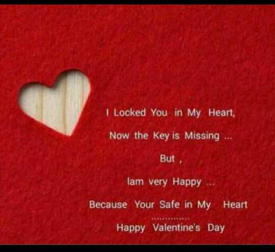 jessy - I Locked You in My Heart , Now the key is Missing . . . But , lam very Happy Because Your Safe in My Heart Happy Valentine ' s Day - ShareChat