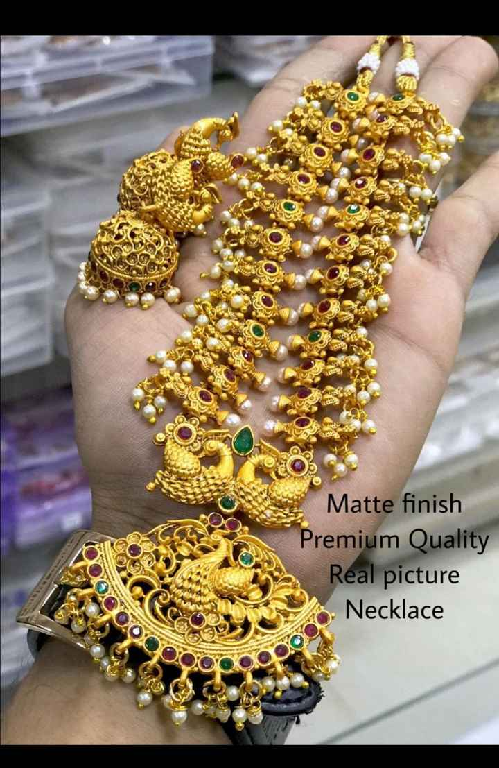 jewellery - Matte finish Premium Quality Real picture Necklace - ShareChat