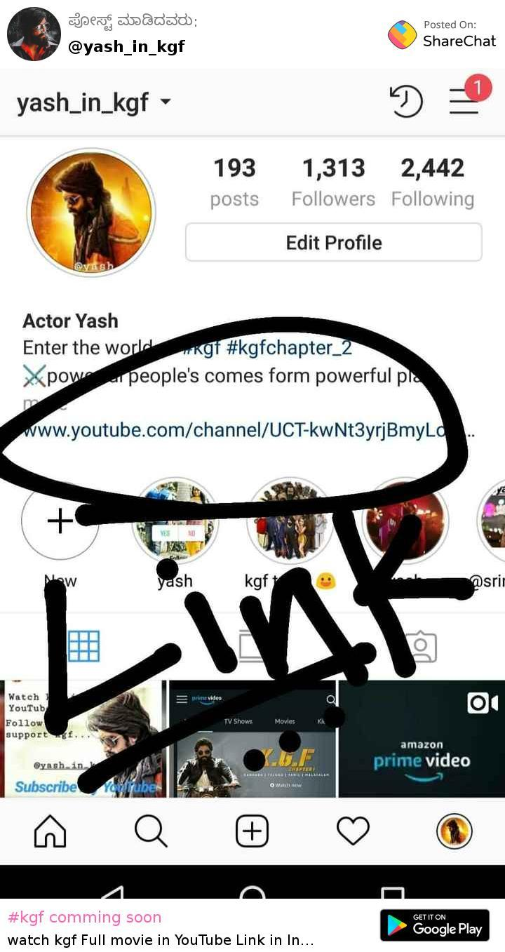yash_in_kgf - Author on ShareChat - Enter the world of #kgf
