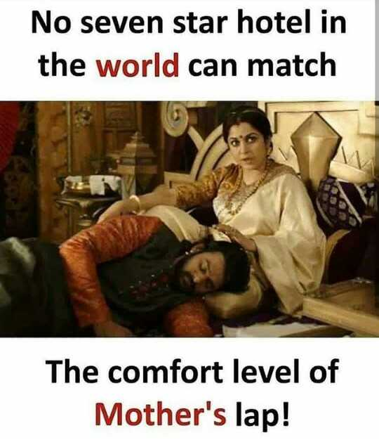 love u mom - No seven star hotel in the world can match The comfort level of Mother ' s lap ! - ShareChat