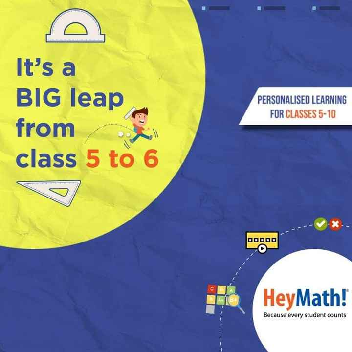 maths trick - It ' s a BIG leap from class 5 to 6 PERSONALISED LEARNING FOR CLASSES 5 - 10 HeyMath ! Because every student counts - ShareChat