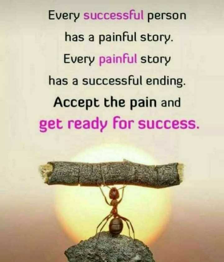nan life nan rule - Every successful person has a painful story . Every painful story has a successful ending . Accept the pain and get ready for success . - ShareChat