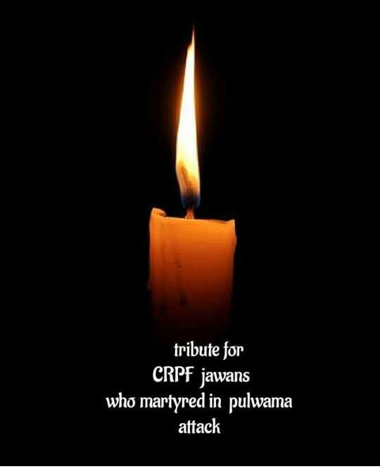 pulwama attack - tribute for CRPF jawans who martyred in pulwama attack - ShareChat
