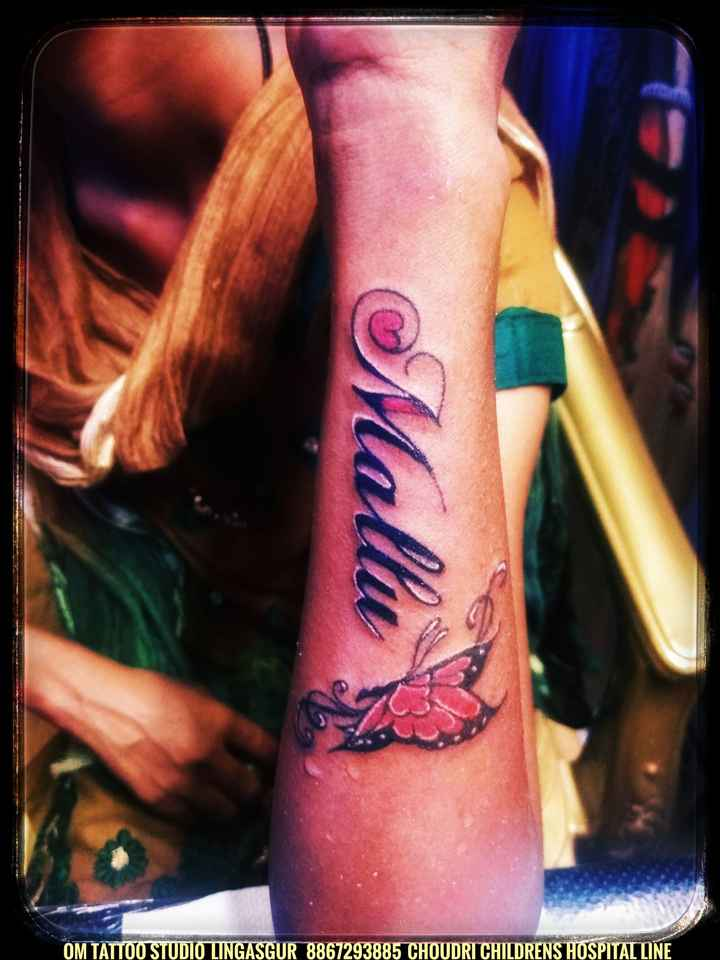 tattoos - Mallu OM TATTOO STUDIO LINGASGUR 8867293885 CHOUDRI CHILDRENS HOSPITAL LINE - ShareChat