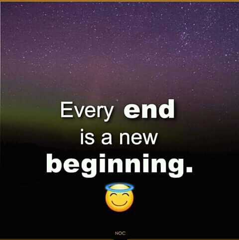typewriters voice - Every end is a new beginning . NOC - ShareChat